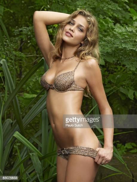 SAN JUAN DEL SUR NI Swimsuit 2008 Issue Portrait of Ana Beatriz Barros wearing bikini by Les Copains at Morgan's Rock Hacienda and EcoLodge