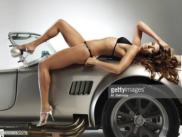 NEW YORK NY Indy race car driver Danica Patrick is photographed for Swimsuit Issue 2009 {Photo by Marlena Bielinska/Sports Illustrated/Contour by...