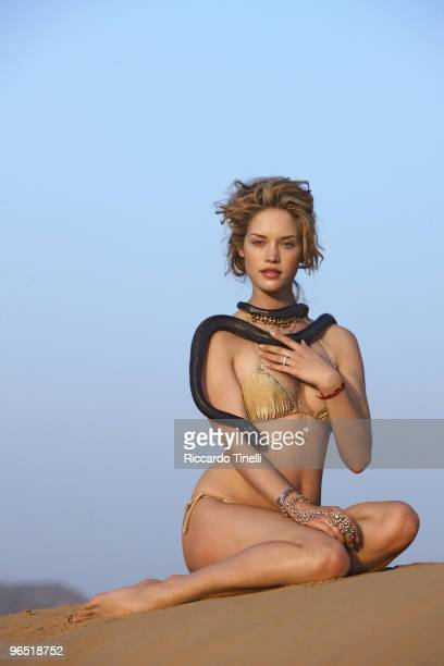 Swimsuit 2010 Issue Portrait of Julie Ordon during photo shoot on location in Rajasthan India October 29 2009 Published image ON EMBARGO IN NORTH...