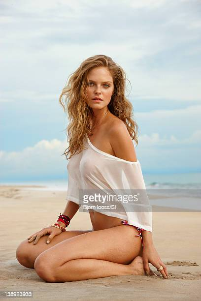Swimsuit Issue 2012 Model Jessica Perez poses for the 2012 Sports Illustrated Swimsuit issue on April 28 2011 in Bocas del Toro Panama PUBLISHED...