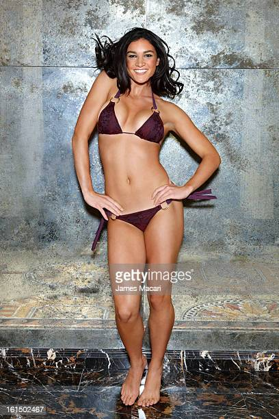 Swimsuit Issue 2013 Australian hurdler Michelle Jenneke poses for the 2013 Sports Illustrated Swimsuit issue on November 14 2012 at Caesars Palace...