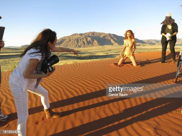Swimsuit Issue 2013 Behind the scenes of the 2013 Sports Illustrated Swimsuit issue on June 5 2012 in Namibia Pictured model Cintia Dicker CREDIT...