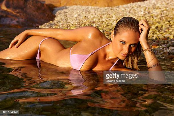 Swimsuit Issue 2013 Model Genevieve Morton poses for the 2013 Sports Illustrated Swimsuit issue on May 11 2012 in Hayman Island Australia PUBLISHED...