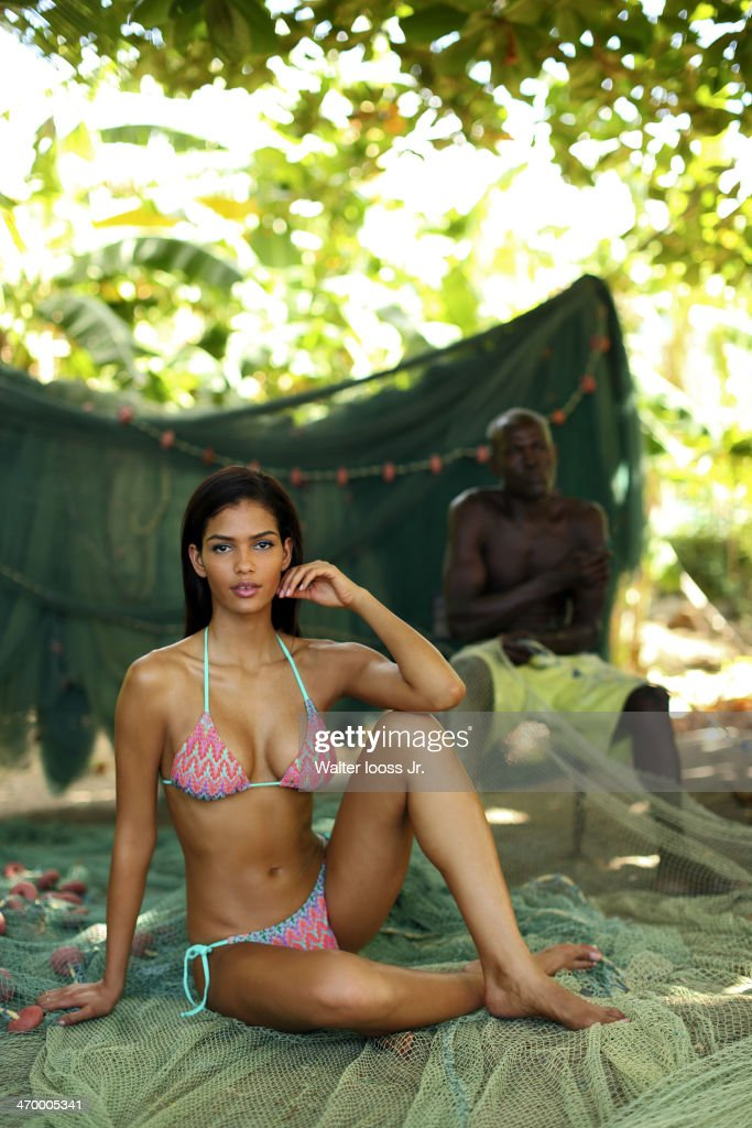 Model Cris Urena poses for the 2014 Sports Illustrated Swimsuit issue on December 7, 2013, on Saint Lucia. PUBLISHED IMAGE.