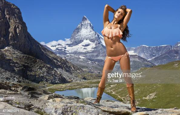Swimsuit Issue 2014 Model Emily DiDonato poses for the 2014 Sports Illustrated Swimsuit issue on August 10 2013 in Zermatt Switzerland PUBLISHED...
