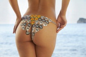 Swimsuit Issue 2014 Model Emily Ratajkowski poses for the 2014 Sports Illustrated Swimsuit issue on December 4 on Saint Lucia Body painting by Joanne...