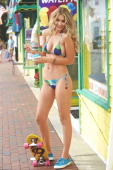 Swimsuit Issue 2014 Model Gigi Hadid poses for the 2014 Sports Illustrated Swimsuit issue on September 3 2013 in Cape May New Jersey PUBLISHED IMAGE...