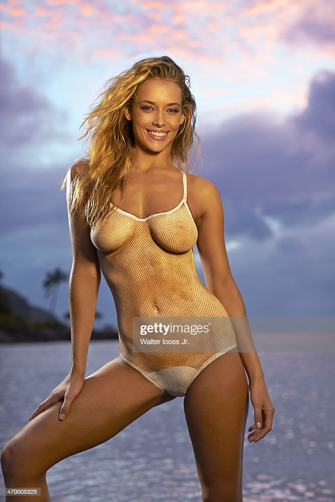 Model <a gi-track='captionPersonalityLinkClicked' href=/galleries/search?phrase=Hannah+Ferguson&family=editorial&specificpeople=11247832 ng-click='$event.stopPropagation()'>Hannah Ferguson</a> poses for the 2014 Sports Illustrated Swimsuit issue on December 6, 2013, on Saint Lucia. Body painting by Joanne Gair. PUBLISHED IMAGE.