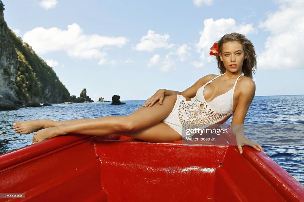 Model <a gi-track='captionPersonalityLinkClicked' href=/galleries/search?phrase=Hannah+Ferguson&family=editorial&specificpeople=11247832 ng-click='$event.stopPropagation()'>Hannah Ferguson</a> poses for the 2014 Sports Illustrated Swimsuit issue on December 6, 2013, on Saint Lucia. PUBLISHED IMAGE.