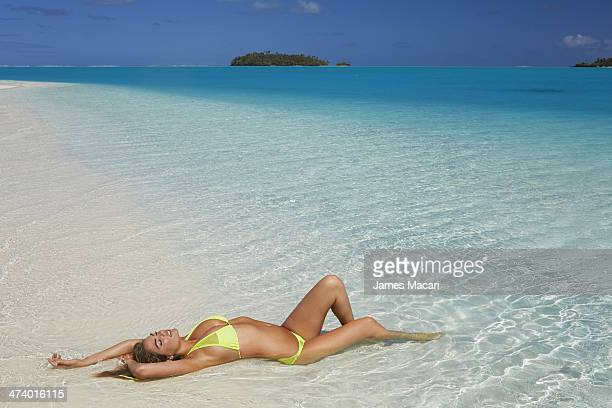 Swimsuit Issue 2014 Model Kate Upton poses for the 2014 Sports Illustrated Swimsuit issue on October 29 2013 in Aitutaki Cook Islands PUBLISHED IMAGE...
