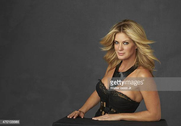 Swimsuit Issue 2014 Model Rachel Hunter poses for the 2014 Sports Illustrated Swimsuit issue on October 17 2013 in New York City PUBLISHED IMAGE...