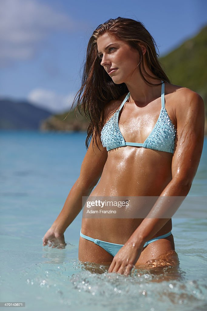 Swimsuit Issue 2014: Soccer player Alex Morgan poses for the 2014 Sports Illustrated Swimsuit issue on November 19, 2013 on Guana Island. PUBLISHED IMAGE.