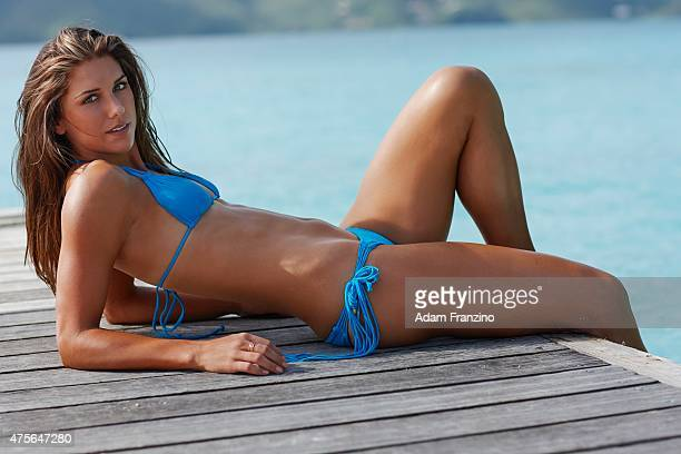 Swimsuit Issue 2014 Soccer player Alex Morgan poses for the 2014 Sports Illustrated Swimsuit issue on November 17 2013 on Guana Island CREDIT MUST...