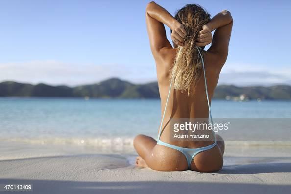 Swimsuit Issue 2014 Surfer Anastasia Ashley poses for the 2014 Sports Illustrated Swimsuit issue on November 22 2013 on Guana Island PUBLISHED IMAGE...