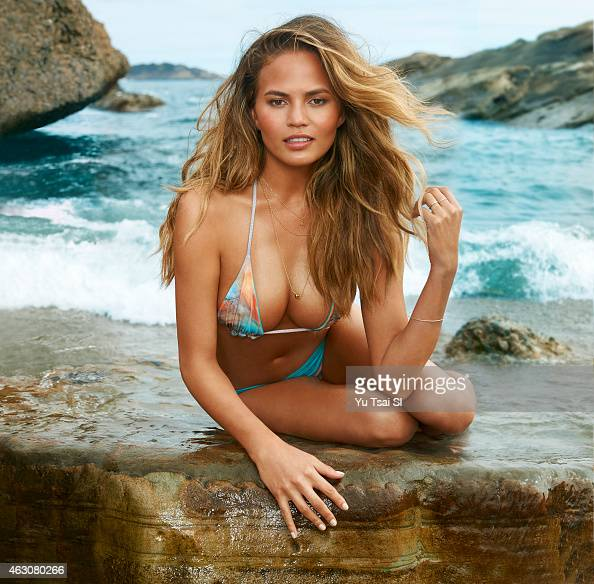 Swimsuit Issue 2015 Model Chrissy Teigen poses for the 2015 Sports Illustrated Swimsuit issue on July 19 2014 in the United States Swimsuit by San...