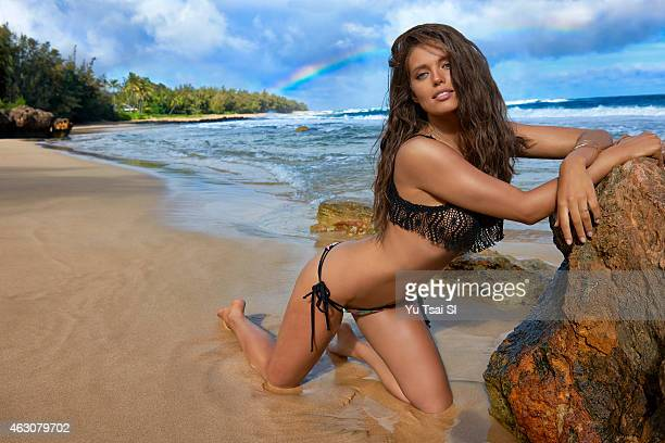 Swimsuit Issue 2015 Model Emily DiDonato poses for the 2015 Sports Illustrated Swimsuit issue on April 24 2014 in Kauai Hawaii Swimsuit by Bellina...