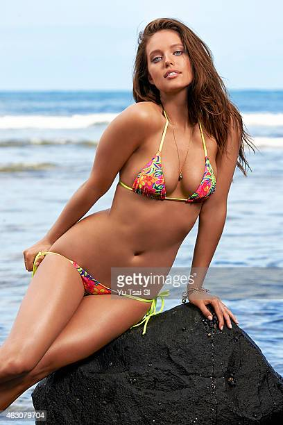 Swimsuit Issue 2015 Model Emily DiDonato poses for the 2015 Sports Illustrated Swimsuit issue on April 24 2014 in Kauai Hawaii Swimsuit by Sauvage...