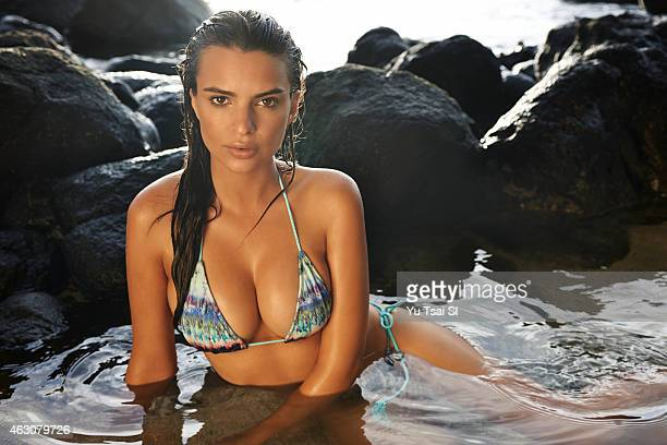 Swimsuit Issue 2015 Model Emily Ratajkowski poses for the 2015 Sports Illustrated Swimsuit issue on April 27 2014 in Kauai Hawaii Swimsuit by Beauty...