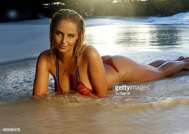 Swimsuit Issue 2015 Model Genevieve Morton poses for the 2015 Sports Illustrated Swimsuit issue on December 11 2014 on St John in the US Virgin...
