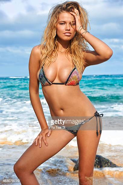 Swimsuit Issue 2015 Model Hailey Clauson poses for the 2015 Sports Illustrated Swimsuit issue on April 30 2014 in Kauai Hawaii Swimsuit by Beach...