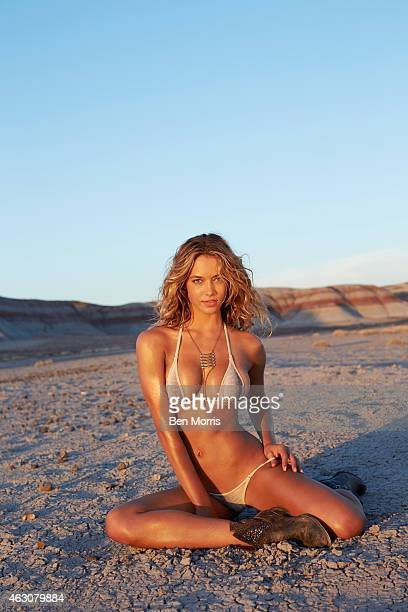 Swimsuit Issue 2015 Model Hannah Ferguson poses for the 2015 Sports Illustrated Swimsuit issue on May 19 2014 on Route 66 Swimsuit by TeenyB Bikini...