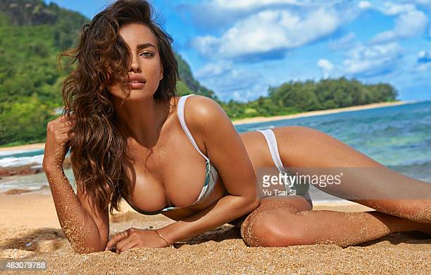 Swimsuit Issue 2015 Model Irina Shayk poses for the 2015 Sports Illustrated Swimsuit issue on April 29 2014 in Kauai Hawaii Swimsuit by Beach Riot x...