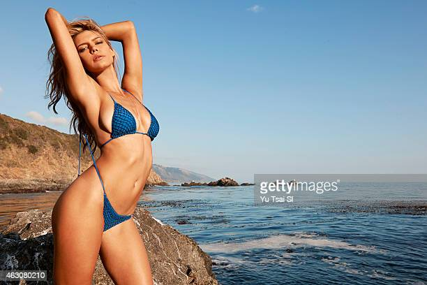 Swimsuit Issue 2015 Model Kelly Rohrbach poses for the 2015 Sports Illustrated Swimsuit issue on July 17 2014 in the United States Swimsuit by Acacia...
