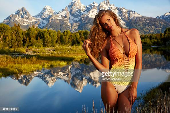 Swimsuit Issue 2015 Model Robyn Lawley poses for the 2015 Sports Illustrated Swimsuit issue on June 23 2014 in Jackson Hole Wyoming Swimsuit by...