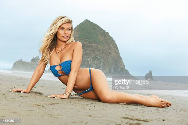 Swimsuit Issue 2015 Model Samantha Hoopes poses for the 2015 Sports Illustrated Swimsuit issue on July 15 2014 in the United States Swimsuit by INDAH...