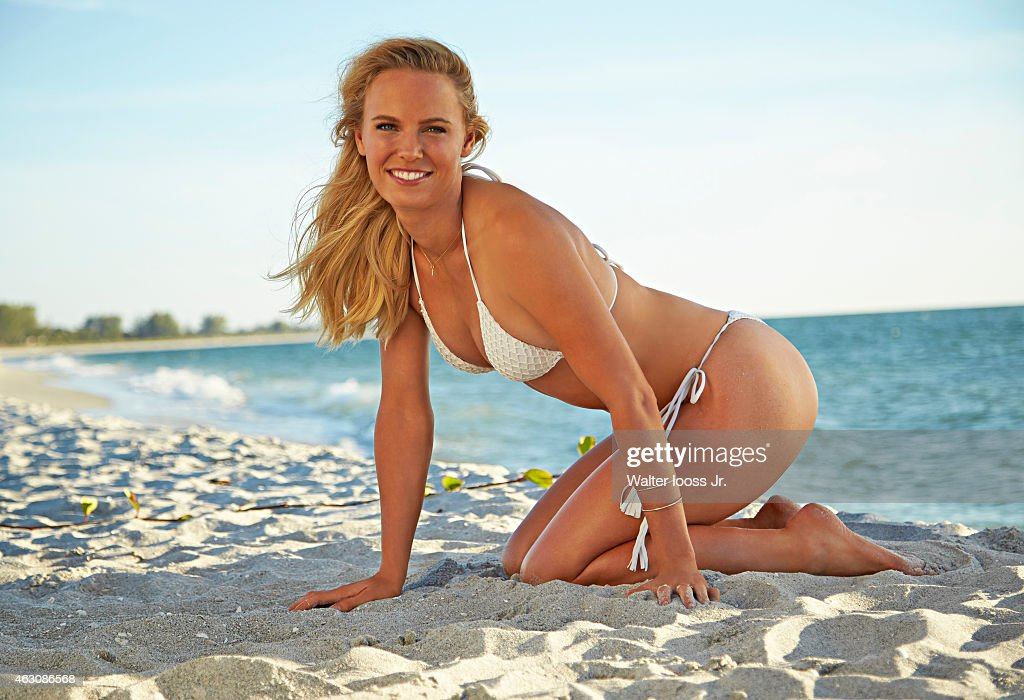 Tennis player <a gi-track='captionPersonalityLinkClicked' href=/galleries/search?phrase=Caroline+Wozniacki&family=editorial&specificpeople=740679 ng-click='$event.stopPropagation()'>Caroline Wozniacki</a> poses for the 2015 Sports Illustrated Swimsuit issue on November 12, 2014 on Captiva Island, Florida. Swimsuit by Acacia. PUBLISHED IMAGE.
