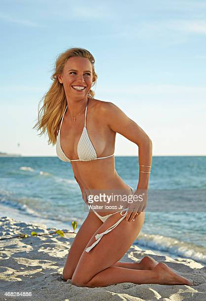 Swimsuit Issue 2015 Tennis player Caroline Wozniacki poses for the 2015 Sports Illustrated Swimsuit issue on November 12 2014 on Captiva Island...