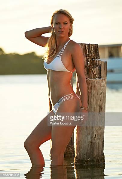 Swimsuit Issue 2015 Tennis player Caroline Wozniacki poses for the 2015 Sports Illustrated Swimsuit issue on November 12 2014 on Captiva Island...