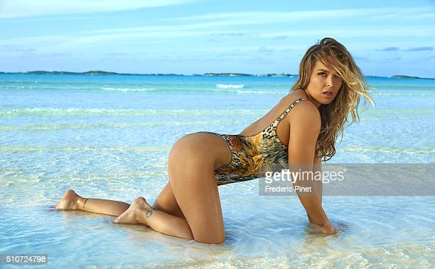 Mixed martial artist and actress Ronda Rousey poses for the 2016 Sports Illustrated swimsuit issue on November 26 2015 in Saint Vincent And The...