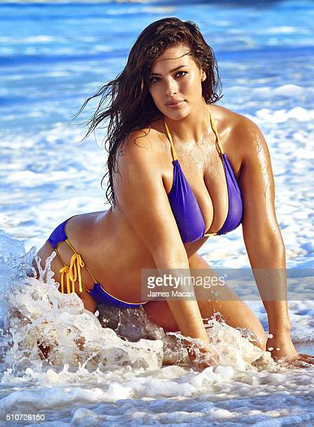 Model Ashley Graham poses for the 2016 Sports Illustrated swimsuit issue on December 10 2015 in Turks and Caicos COVER IMAGE CREDIT MUST READ James...