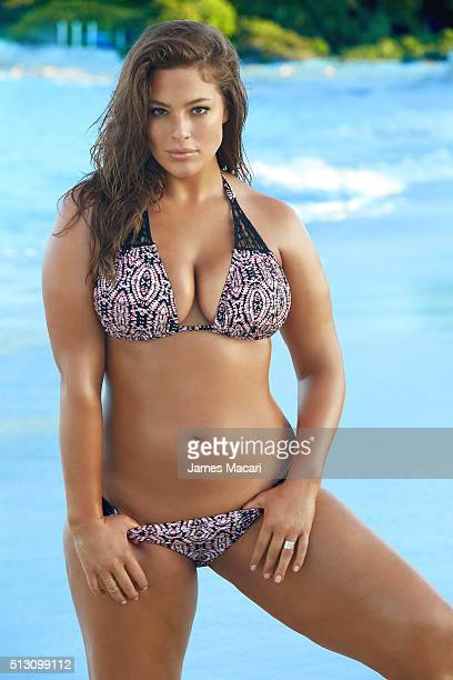 Model Ashley Graham poses for the 2016 Sports Illustrated swimsuit issue on December 10 2015 in Turks and Caicos PUBLISHED IMAGE CREDIT MUST READ...