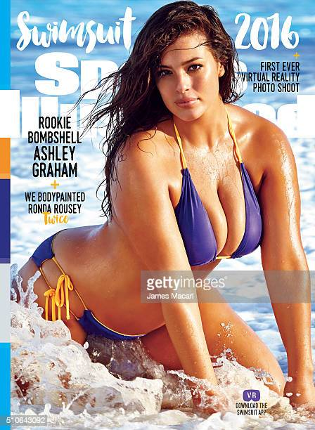 Model Ashley Graham poses for the cover of the 2016 Sports Illustrated swimsuit issue on December 10, 2015 in Turks and Caicos. COVER IMAGE.