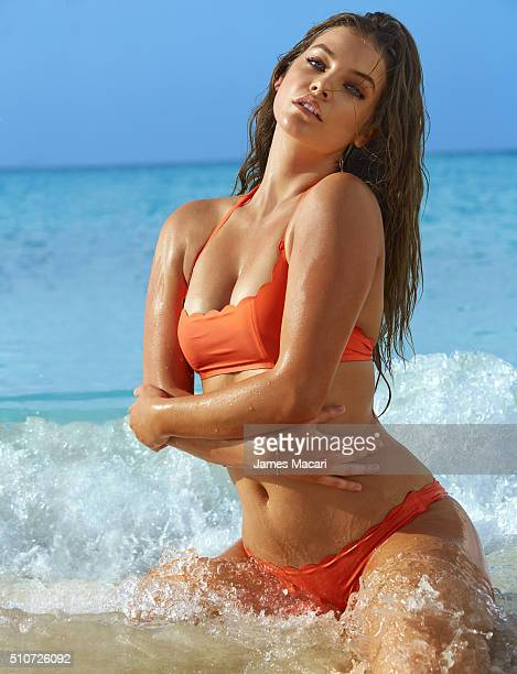 Model Barbara Palvin poses for the 2016 Sports Illustrated swimsuit issue on December 10 2015 in Turks and Caicos PUBLISHED IMAGE CREDIT MUST READ...