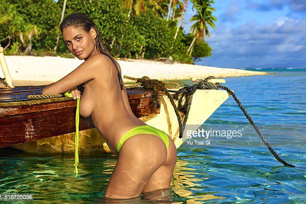 Model Bo Krsmanovic poses for the 2016 Sports Illustrated Swimsuit issue on August 27 2015 in BoraBora PUBLISHED IMAGE CREDIT MUST READ Yu...