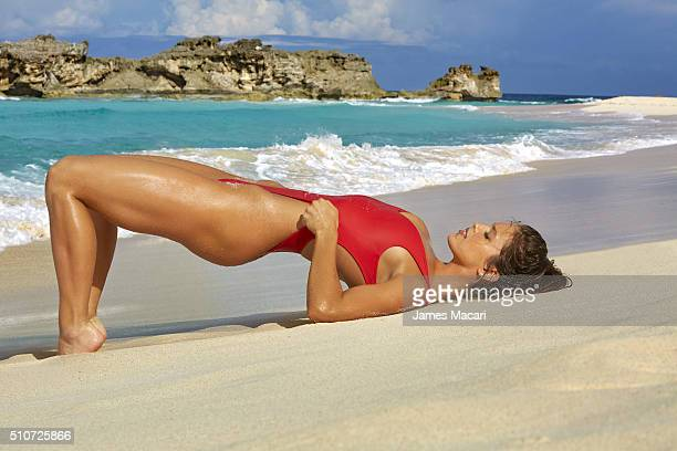 Model Emily DiDonato poses for the 2016 Sports Illustrated swimsuit issue on December 8 2015 in Turks and Caicos PUBLISHED IMAGE CREDIT MUST READ...