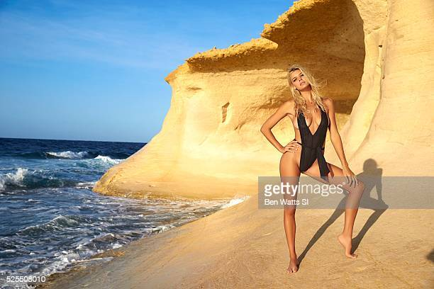 Model Kelly Rohrbach poses for the 2016 Sports Illustrated Swimsuit issue on September 24 2015 in Malta Swimsuit by Milkbaby Bikini by Cat Thordarson...