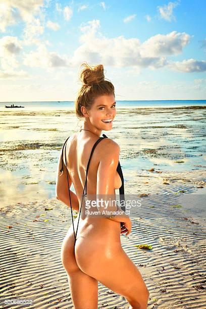 Model poses for the 2016 Sports Illustrated swimsuit issue on July 15 2015 in Zanzibar Tanzania Swimsuit by Gabriela Pires Beachwear CREDIT MUST READ...