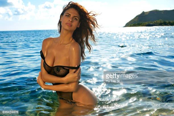 Model Bo Krsmanovic poses for the 2017 Sports Illustrated swimsuit issue on November 11 2016 in Fiji PUBLISHED IMAGE ON EMBARGO IN NORTH AMERICA...