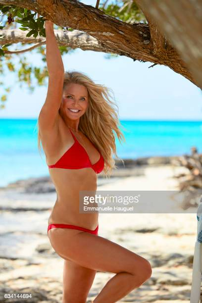 Model Christie Brinkley poses for the 2017 Sports Illustrated swimsuit issue on September 12 2016 on Turks Caicos Islands PUBLISHED IMAGE ON EMBARGO...