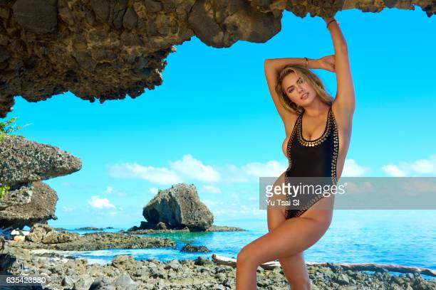 Model Kate Upton poses for the 2017 Sports Illustrated swimsuit issue on November 4 2016 in Fiji PUBLISHED IMAGE ON EMBARGO IN NORTH AMERICA UNTIL...