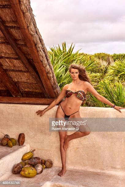 Model Robyn Lawley poses for the 2017 Sports Illustrated swimsuit issue on December 3 2016 in Tulum Mexico PUBLISHED IMAGE ON EMBARGO IN NORTH...