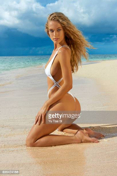 Model Hannah Ferguson poses for the 2017 Sports Illustrated swimsuit issue on November 6 2016 in Fiji PUBLISHED IMAGE ON EMBARGO IN NORTH AMERICA...