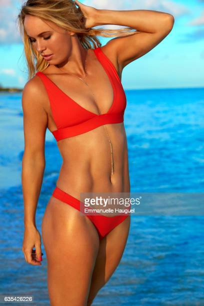 Tennis player Caroline Wozniacki poses for the 2017 Sports Illustrated swimsuit issue on September 13 2016 on Turks Caicos Islands PUBLISHED IMAGE...