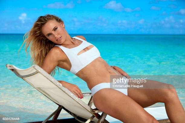 Tennis player Caroline Wozniacki poses for the 2017 Sports Illustrated swimsuit issue on September 13 2016 on Turks Caicos Islands PUBLISHED IMAGE ON...