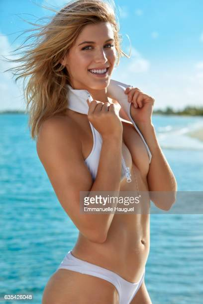 Tennis player Genie Bouchard poses for the 2017 Sports Illustrated swimsuit issue on September 12 2016 on Turks Caicos Islands PUBLISHED IMAGE ON...