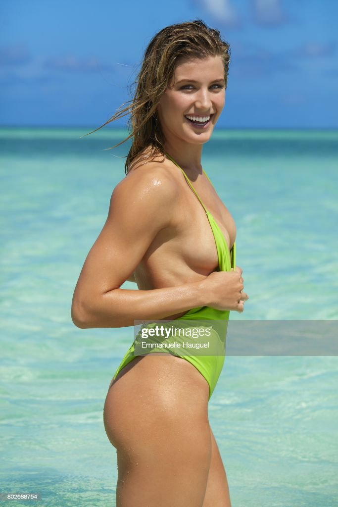 Tennis player Genie Bouchard poses for the 2017 Sports Illustrated swimsuit issue on September 12, 2016 on Turks & Caicos Islands.